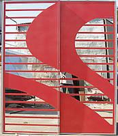Раздвижная двери с цветным рисунком