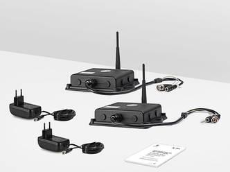 Комплект из уличных беспроводных приемника и передатчика видеосигнала TECSAR AIRBOX 25SW