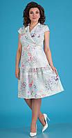 Платье Мода-Юрс-2555/1 белорусский трикотаж, нежно-мятный, 44