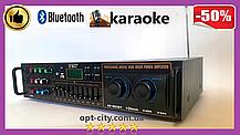 Усилитель звука - UKC AV-663BT Bluetooth FM SD USB AUX Караоке 4 x Микрофона, фото 2