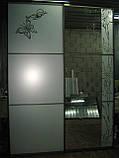 Двери для шкафа-купе пескоструй, фото 3