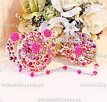 """Подарочный комплект (пустышка+держатель) """"Розовый букет"""""""