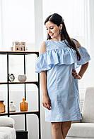 Летнее платье с воланом для кормящих мам 42-50 р