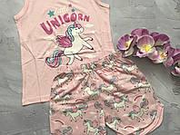 Хлопковая пижама для девочек