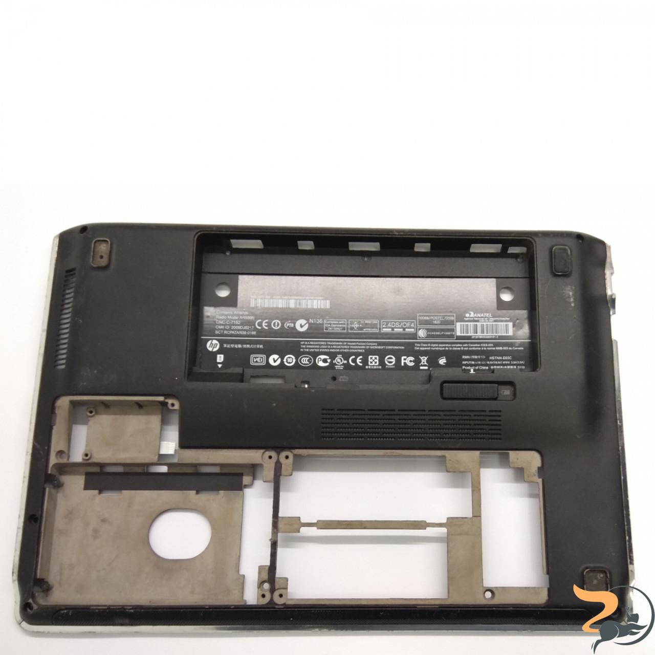 """Нижня частина корпусу для ноутбука HP Pavilion Dm3, Dm3-2000 13.3"""", 605180-001, Б/В. Всі кріплення цілі.Є пошкодження та потертості (фото)."""