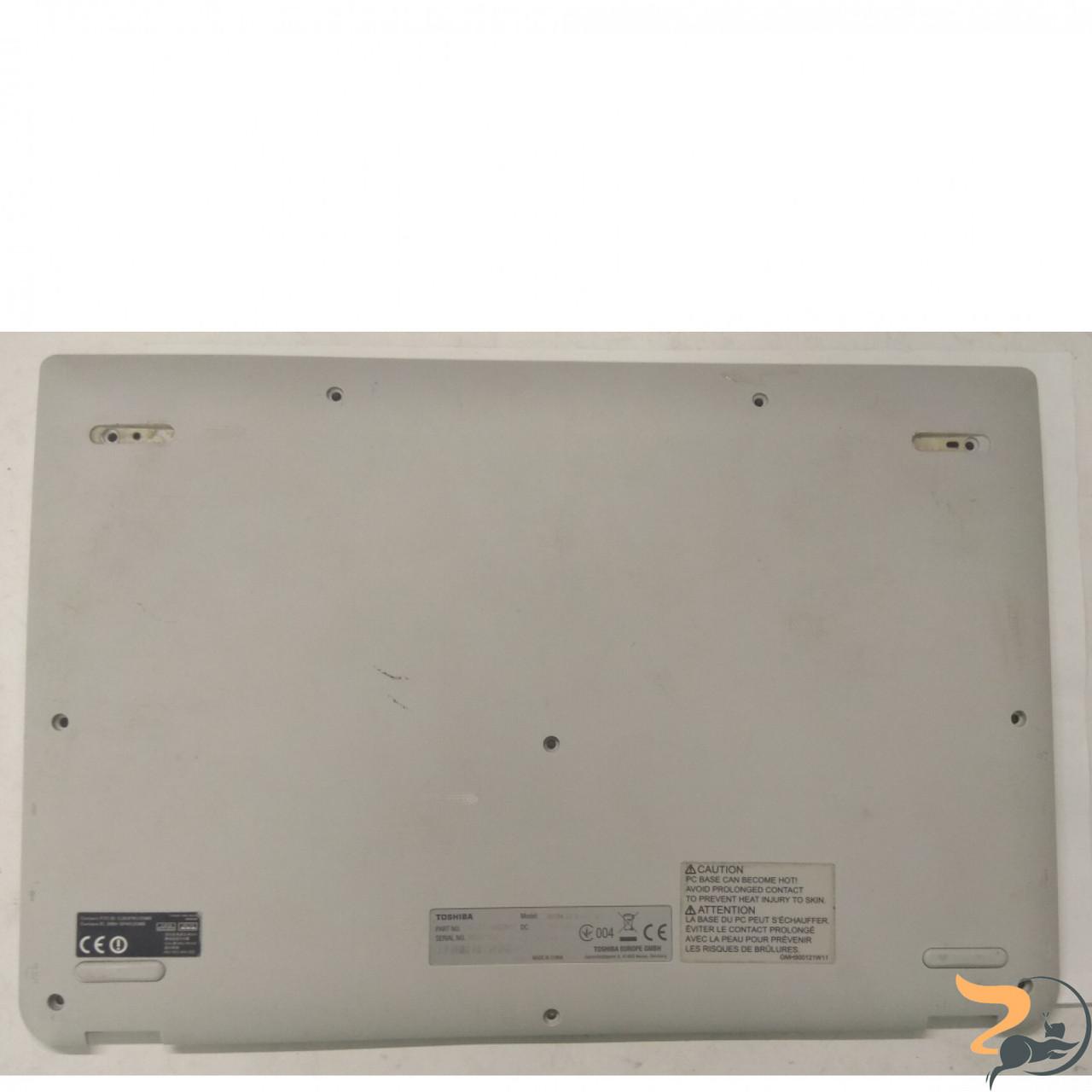 """Нижня частина корпуса для ноутбука Toshiba Chromebook CB35, 13.3"""", eabuh004010, Б/В. Всі кріплення цілі, без пошкоджень."""