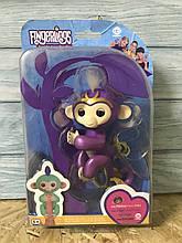 Интерактивная обезьянка Fingerlings Мия, фиолетовая