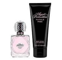 Парфюмированный набор для женщин Agent Provocateur Fatale Pink (edp/50 мл + b/cr/100 мл) (085715751218)