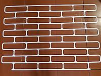 Кирпич декоративный многоразовый трафарет из пластика кирпич овальный  250×60мм форма декоротивной кладки