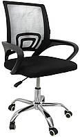 Офисное кресло компьютерное Bonro до 120 кг для детей подростков и взрослых с вентилируемой спинкой черное