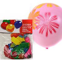 """Воздушные шары 12B-2 набор 10шт """"Цветок, Сердце"""", толщина 2,8г диаметр 31см уп12"""