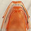 Многоразовые мешочки для продуктов, овощей и фруктов, эко мешочки, фруктовки (4 шт), бело оранжевый, фото 3