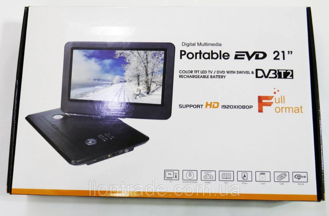 """15,6"""" DVD Opera 1630  Портативный DVD-проигрыватель с Т2 TV USB SD"""