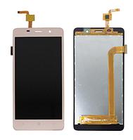 Дисплей модуль для Leagoo M5, Bravis A504, X500, Assistant AS-5433 в зборі з тачскріном, золотистий