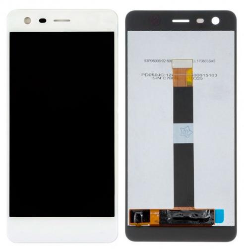 Дисплей для Nokia 2 dual sim модуль в сборе с тачскрином, белый