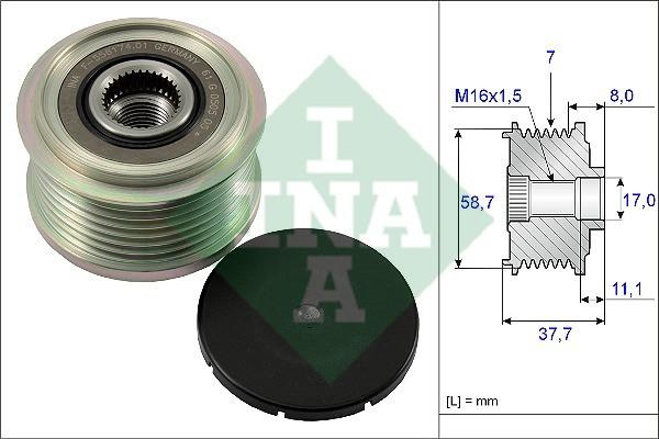 Механизм свободного хода генератора FORD (производство Ina) (арт. 535 0128 10)