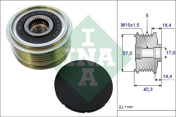 Механизм свободного хода генератора HYUNDAI, KIA (производство Ina) (арт. 535 0187 10), rqb1qttr