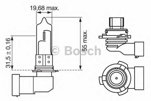 Лампа hb4 xenonblue wv (производство Bosch) (арт. 1987302155), rqx1