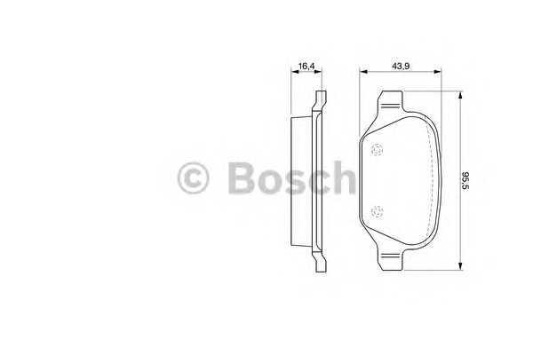Торм колодки дисковые (производство Bosch) (арт. 0 986 424 553), rqv1