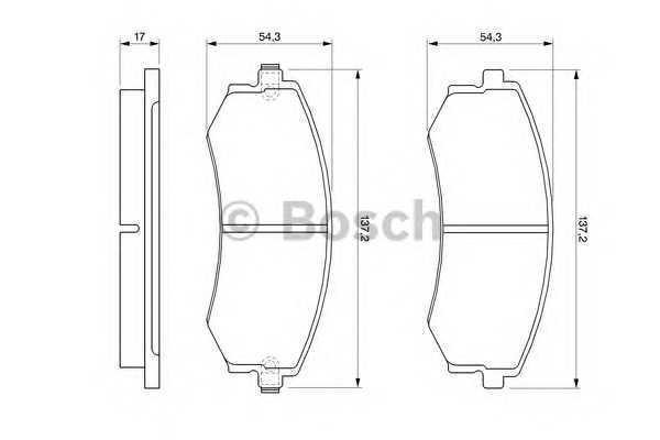 Торм колодки дисковые (производство Bosch) (арт. 0 986 424 215), rqc1