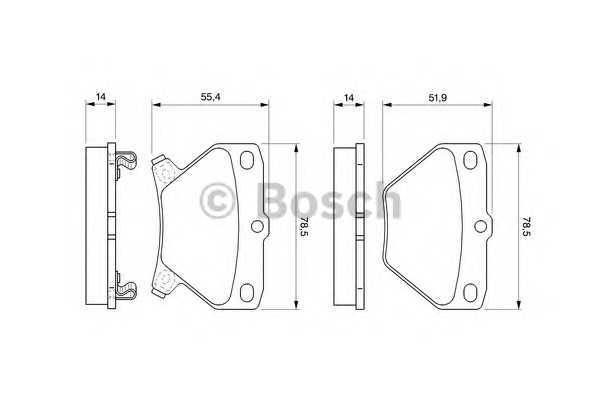 Торм колодки дисковые (производство Bosch) (арт. 0 986 424 630), rqv1