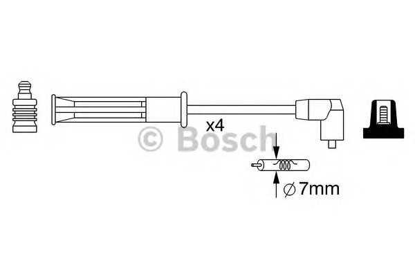 Провода высоковольтные (комплект) (производство Bosch) (арт. 0 986 357 253), rqv1