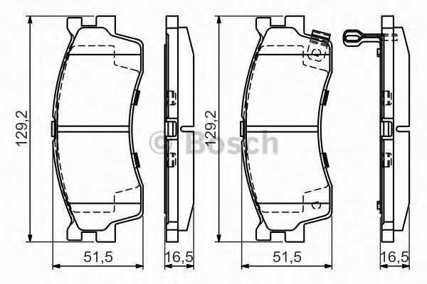 Тоpмозные колодки (производство Bosch) (арт. 0 986 494 146)