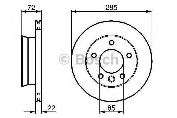 Тормозной диск (производство Bosch) (арт. 0 986 479 212), rqn1