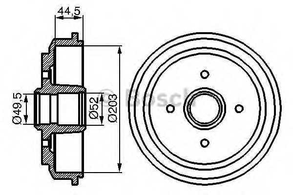 Барабан тормозной (производство Bosch) (арт. 0 986 477 149), rqn1
