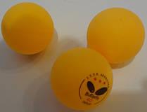 Кулі для настільного тенісу (3 шт.) дублікат BUT40 MT-2028 3star білі, жовті (нов.уп.) 95210-051-0-000