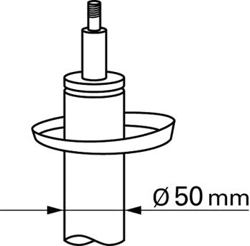 Амортизатор подвески AUDI, GREAT WALL, SEAT, SKODA, Volkswagen передний газовый (производство SACHS) (арт. 312267), rqn1qttr