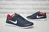Мужские кроссовки в стиле Nike Free Run 3.0 для бега синие с красным, фото 4