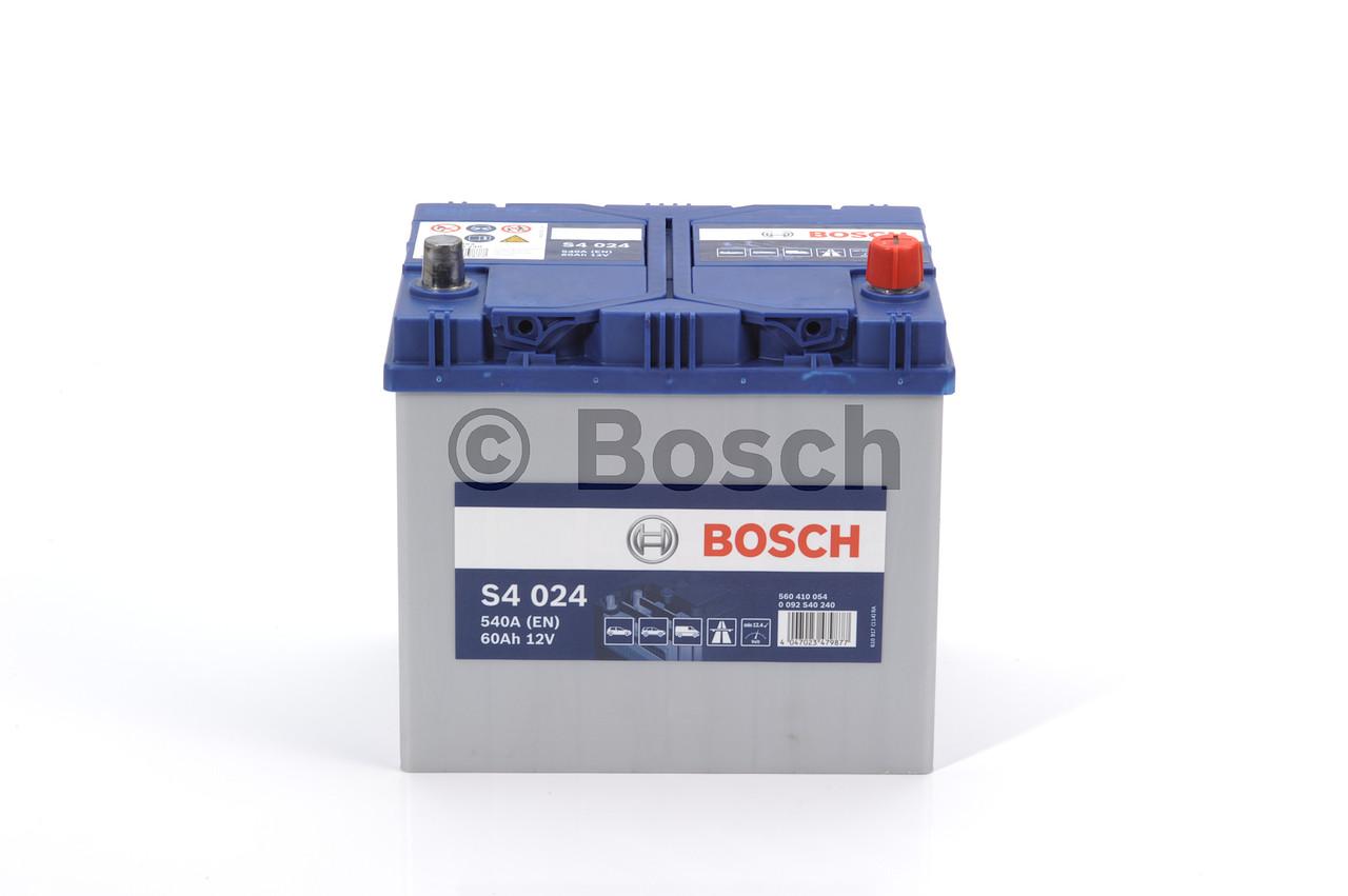 Аккумулятор  60Ah-12v BOSCH (S4024) (232x173x225),R,EN540 (арт. 0092S40240), rqm1qttr
