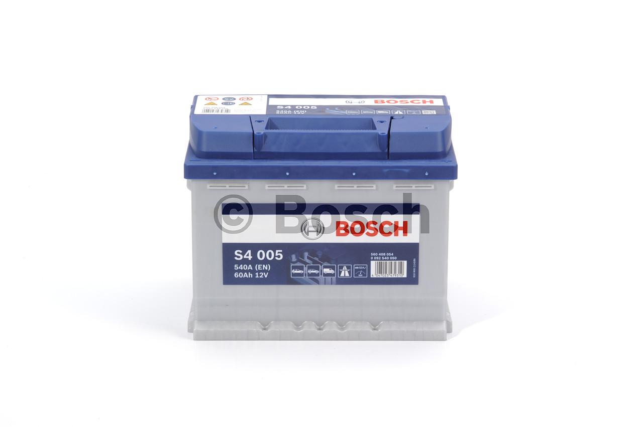 Аккумулятор  60Ah-12v BOSCH (S4005) (242x175x190),R,EN540 (арт. 0092S40050), rqm1qttr