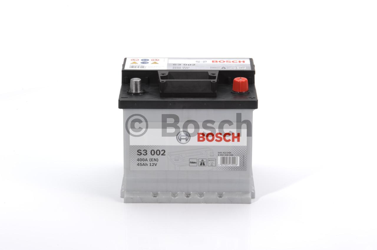 Аккумулятор   45Ah-12v BOSCH (S3002) (207x175x190),R,EN400 (арт. 0092S30020), rqn1qttr