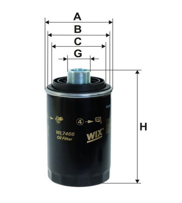 Фильтр масляный WL7466/OP526/7 (производство WIX-Filtron) (арт. WL7466), rqx1qttr