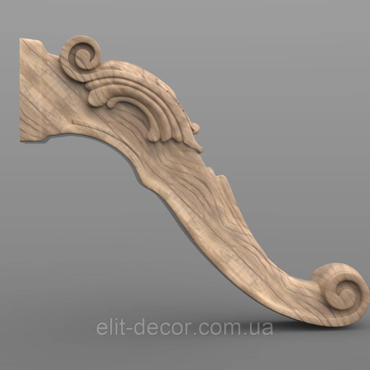 Резная опора. Ножка деревяная 460x140x90. NA-006