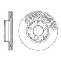 Тормозной диск передний правый PORSCHE CAYENNE ,VW TOUAREG (-2010г), пр-во ZIMMERMANN 600.3225.20, фото 1