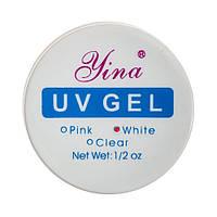 Гель для наращивания ногтей WHITE LINA 15 мл