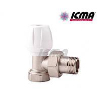 Icma Угловой ручной вентиль простой регулировки верхний для железной трубы 1/2 №803