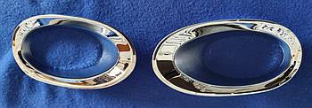 Хромированные накладки на противотуманные фары honda cr-v   2010-2012