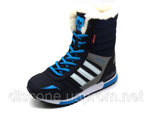 Кроссовки зимние, на меху, Adidas ZX 700, высокие