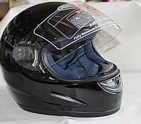 Шлем защитный мотоциклетный, черный (Тайвань)