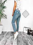 Джинсы женские с рванками светлые 25-30, фото 2