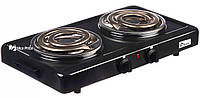 Настольная электроплита Domotec MS-5532 Black (большая спираль) #S/O