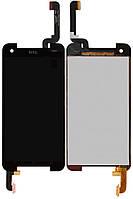 Дисплей + touchscreen (сенсор) для HTC Butterfly S 901e / 901s, черный, оригинал