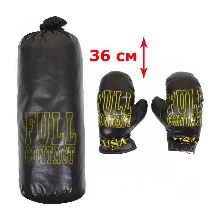 """Боксерский мешок для детей """"Full Contact"""" (малый, чёрный) ФР-00004850"""