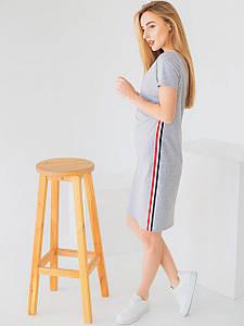 Трикотажна сукня з лампасами 2952
