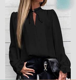 Женская однотонная блузка, фото 2