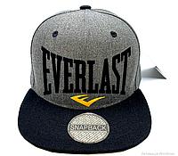 Кепка Snapback Everlast ☝🏻 черная бейсболка высокого качества